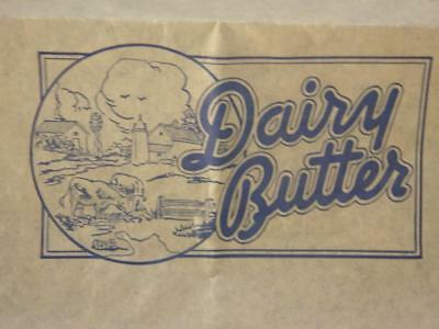 Vintage Original Dairy Butter 1 Lb/Pound Paper Wrapper