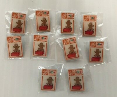 Home Depot Kids Workshop Gingerbread Man Lot of 10 Pins