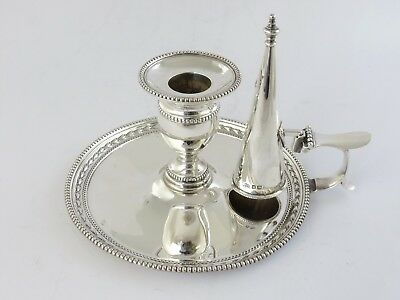 Superb Victorian SILVER CHAMBERSTICK Sheffield 1897 Portable bedtime candlestick