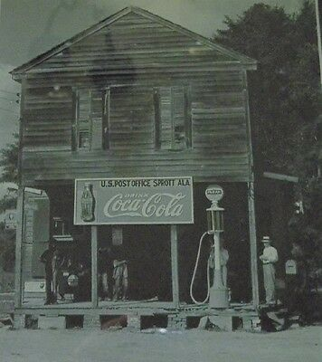 Coca Cola - Sprott, Alabama - 'Framed Print' - P.O. Sign - COKE