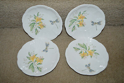 """12 LENOX Butterfly Meadow Dragonfly 6.5"""" PARTY Side Plates MINT NEW Bread Butter"""