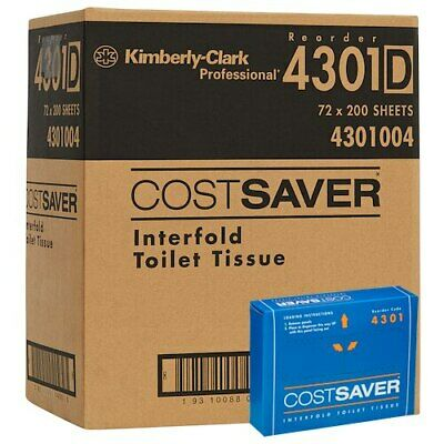 Kimberly Clark COSTSAVER Interfold Toilet Tissue 72 Packs (4301)