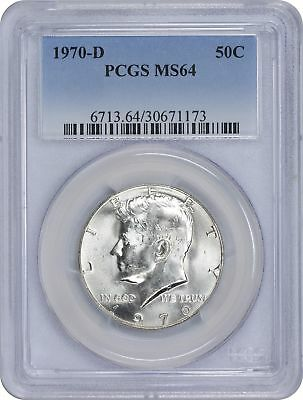 1970-D Kennedy Half MS64 PCGS Mint State 64