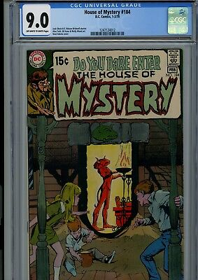 House Of Mystery #184 Cgc Vf/nm 9.0 Oww Neal Adams Cover Dc Horror Comics