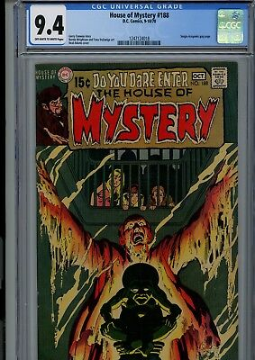 House Of Mystery #188 Cgc Nm 9.4 Oww Neal Adams Cover Dc Horror Comics