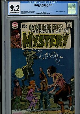 House Of Mystery #186 Cgc Nm- 9.2 Oww Neal Adams Cover Dc Horror Comics