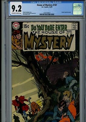 House Of Mystery #187 Cgc Nm- 9.2 Oww Neal Adams Cover Dc Horror Comics