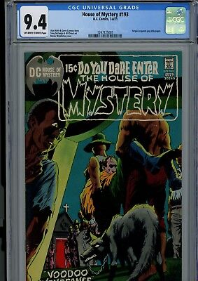 House Of Mystery #193 Cgc Nm 9.4 Ow/w Bernie Wrightson Cover Dc Horror Comics