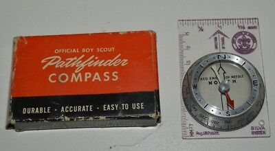 Vintage BSA Boy Scouts of America Silva System Pathfinder Compass w/ Box No 1051