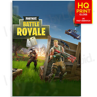 Fortnite Game Poster Gaming Poster Print A4 A3 A2 A1
