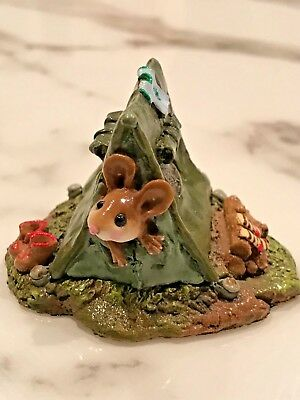 Wee Forest Folk MS-16 Camping Out - Olive Tent - Retired and in WFF Box 1994