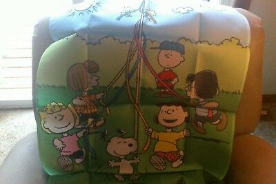 """willabee and ward snoopy and the gang playing flag 28"""" x 40"""""""