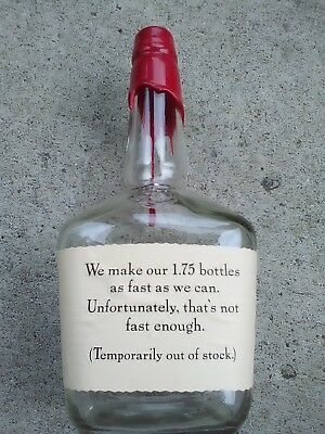 Makers Mark 1.75 Liter SOLD OUT Bottle SEALED EMPTY Collectible Store Display