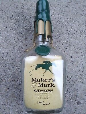 2000 Makers Mark SEALED EMPTY Keeneland Bottle Keckucky Horse Racing Collectible