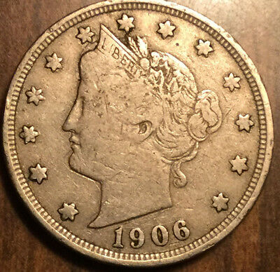 1906 USA LIBERTY 5 CENTS NICKEL - a good example !