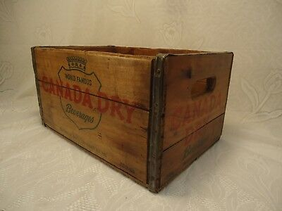 1952 Canada Dry Advertising  Wooden Crate Vintage Soda Crate Clean & Odor Free!