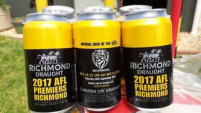 Richmond Tigers 2017  Premiership Beer Can  collectable