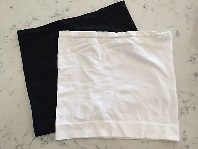 Fertile Mind Bando Pregnancy Belly Band - White & Black - Size Small/Medium