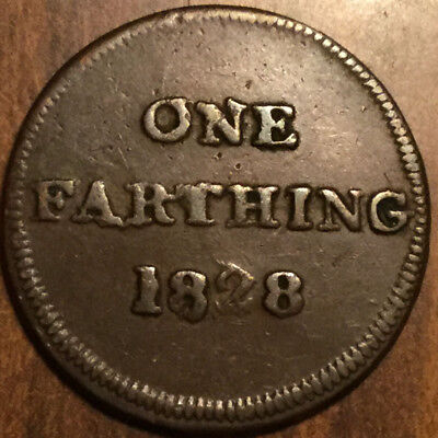 Glascow Retailers Token One Farthing 1828
