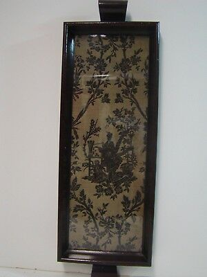 Vintage Chinese Silk Embroidered Panel Serving Tray Old