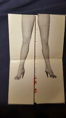 Vintage Folding Postcard/ Show Program Crazy Horse Saloon Paris, France 1950's