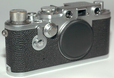 Leica IIIf 35mm film rangefinder camera with a selftimer and red dial, tested
