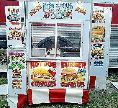CUSTOM FOOD CART W/automatic Fire system ansul, FOOtT TRUCK,CONCESSION,HOT DOG