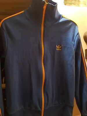 vintage adidas tracksuit top very rare early Brazil colours.