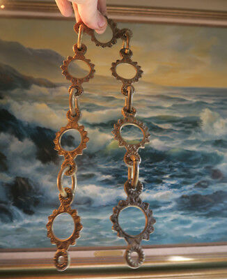 French Gilt brass bronze lamp chandelier ornate chain loop Part Vintage Spain