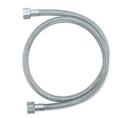 "Female Npt High Pressure Braided Stainless Chemical Hose (1/2"" - 48"" Length)"