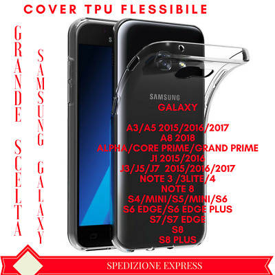 Cover Custodia Tpu Flessibile Samsung Galaxy A8/note8/j3/j5/j7/a3/a5/s5/s7/s8