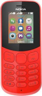 Nokia 130 1.8-Inch SIM Free Feature Phone - Red | Brand New | Free Delivery