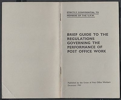 1961 UPW Union of Postal Workers Guide to Regulations re Post Office Work