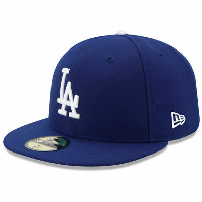 size 40 f0271 b1800 New Era Los Angeles Dodgers LA Logo 59FIFTY Fitted Hat Cap AC On Field Blue  MLB