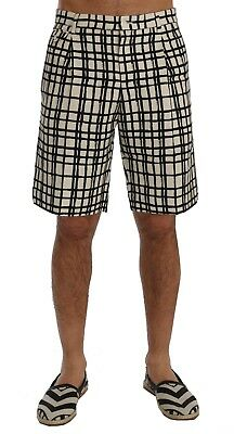 82a9156055 NEW $740 DOLCE & GABBANA Shorts White Black Striped Casual Knee High IT44 /  W30