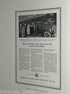 1920 Packard Motor Car advertisement page, Large Packard at Opera House