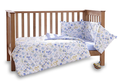New in pack Clair de lune toy shop cot or cot bed quilt & bumper 2 piece set
