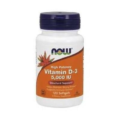 Now Foods Vitamin D3 5000IU 120Softgels