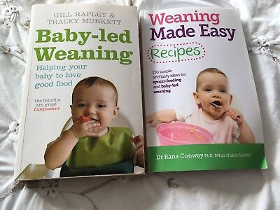 Baby led weaning book by Gill Rapley weaning made easy recipes bundle
