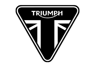 2 x TRIUMPH STICKERS MOTORCYCLE TANK HELMET VINYL DECAL ANY COLOUR FREE P&P