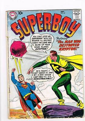 Superboy # 67 The Three Secret Identities of Superboy ! grade 2.5 scarce book !!