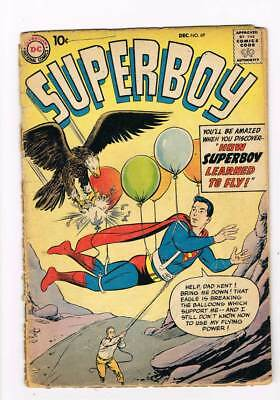 Superboy # 69 How Superboy Learned to Fly ! grade 1.5 scarce book !!