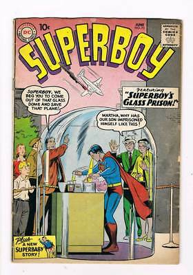 Superboy # 73 Superbaby in Scotland Yard ! grade 4.0 scarce book !!