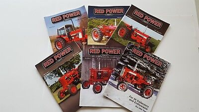 RED POWER International Harvester Collector Magazines Complete Year 2012 NICE!