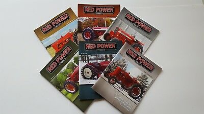 RED POWER International Harvester Collector Magazines Complete Year 2013 NICE!