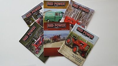 RED POWER International Harvester Collector Magazines Complete Year 2014 NICE!