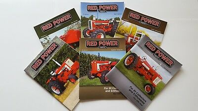 RED POWER International Harvester Collector Magazines Complete Year 2015 NICE!