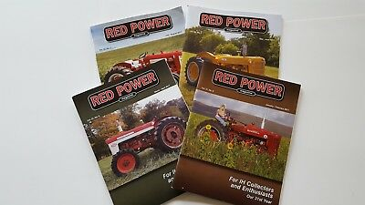 RED POWER International Harvester Collector Magazines Incomplete Year 2017 NICE!