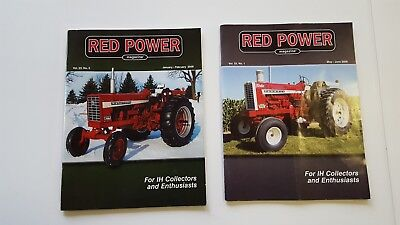 RED POWER International Harvester Collector Magazines May/June 2008 Jan/Feb 2009