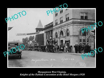 OLD HISTORIC PHOTO OF MORGANTOWN WEST VIRGINIA, KNIGHTS OF THE PYTHIAN c1920